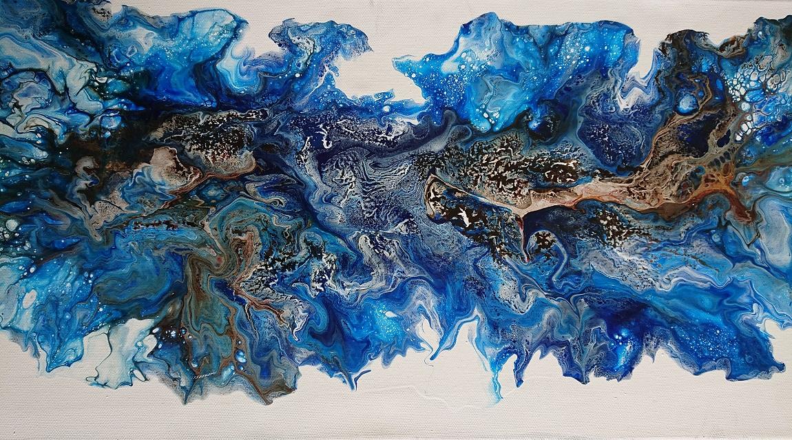 Qintett (blau, braun)