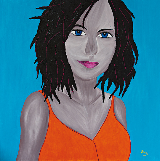 """Australien"" Acryl 90 cm x 90 cm 2010"