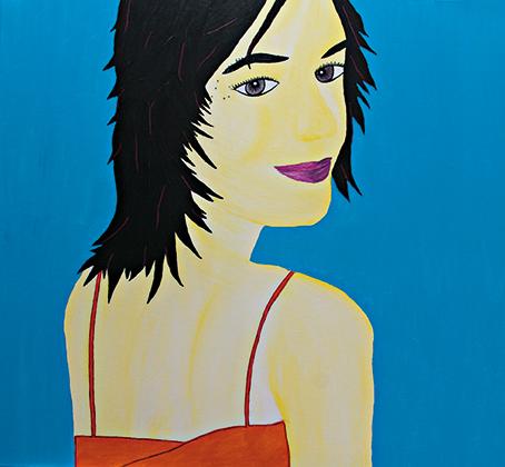 """Antarktis"" Acryl 90 cm x 90 cm 2010"